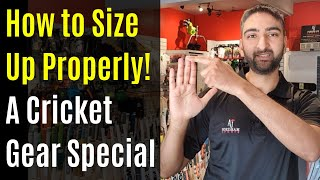 Cricket Equipment Sizing Guide - Tips And Advice