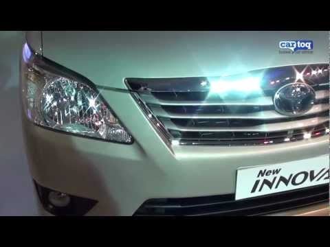 2012 New Toyota Innova facelift video review from Auto Expo 2012 by Cartoq.com