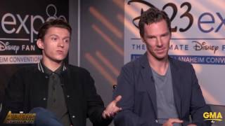 Бенедикт Камбербэтч, Benedict Cumberbatch Stops Tom Holland From Revealing Any Big Avengers Infinity War Secrets