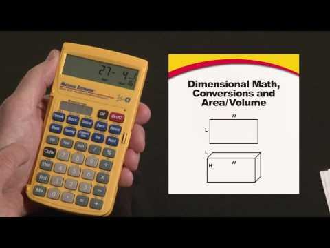 Material Estimator - Dimensional Math and Conversions
