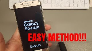 Hard reset Samsung S6 edge SM-G925F. Unlock pattern/pin/password lock.