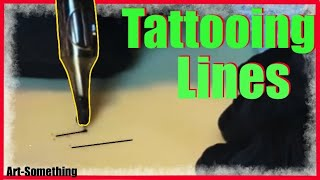 ✅TATTOOING LINES❗❗ HAVING PROBLEMS TATTOOING LINES ❓❓ (on fake skin)👀