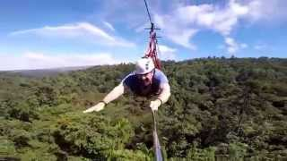 preview picture of video 'Superman canopy zip line in San Luis Canopy in Costa Rica.550 meters!'