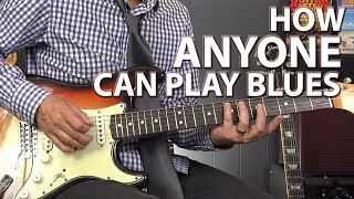 How ANYONE Can Play the Blues - Minimalistic Blues Playing
