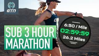 How To Run A Sub 3 Hour Marathon | Run Training & Tips