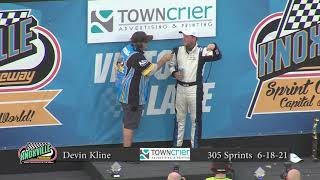 Knoxville Raceway Pro Sprints Victory Lane - June 18, 2021