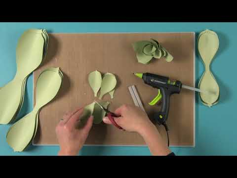 Step-By-Step Large Paper Succulent DIY From David Tutera Collection | Sizzix