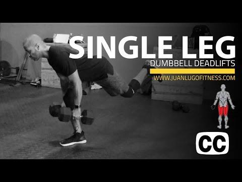 Single Leg Dumbbell Deadlifts