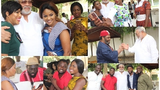 Pete Edochie, McBrown, Kalybos, Joselyn Dumas, Others Visit Ex. Prez. Rawlings
