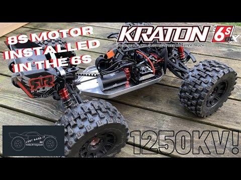 Arrma Kraton 6s Running 1250KV Motor (Belted Badlands MX38, 20T Pinion)