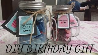 DIY Birthday Gift - Mason Jar | How To Decorate Mason Jar |