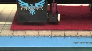 Cutting 3mm thick felt
