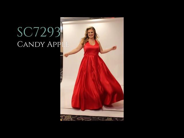 A-line Satin Plus Size Prom Dress SC7293 by Sydney's Closet