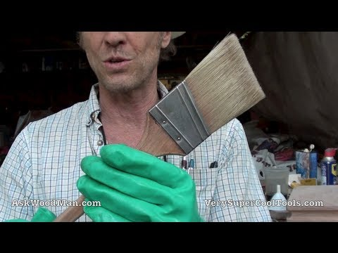 The Best Way To Clean A Paint Brush With The Least Amount Of Thinner