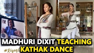 Madhuri Dixit Nene doing the best use of lockdown, Riyaz of Kathak through a video call