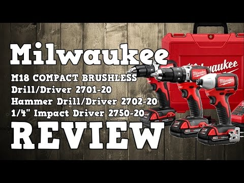 Milwaukee M18 Compact Brushless Drill / Hammer Drill / Impact Driver Review