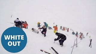 Avalanche buries skiers in the French Alps