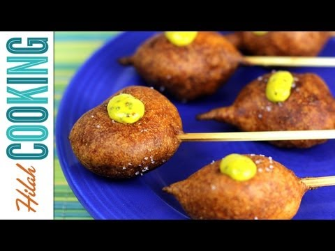 How to Make Shrimp Corn Dogs | Hilah Cooking
