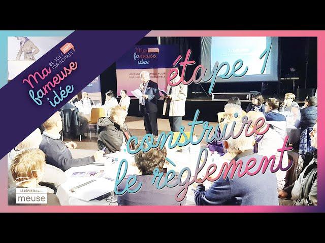 Budget participatif Meuse - Etape 1