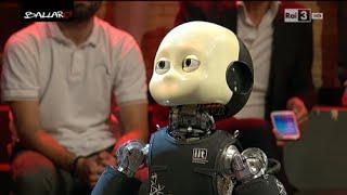 """In Studio """"iCub"""", Cucciolo Di Robot, E Roberto Cingolani   Ballarò 23062015"""