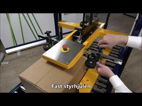 CT 103 SD: Inställning av boxensdimensioner