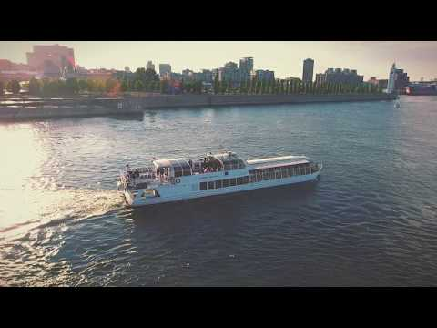 Bateau Mouche navigating Montreal's Old Port.