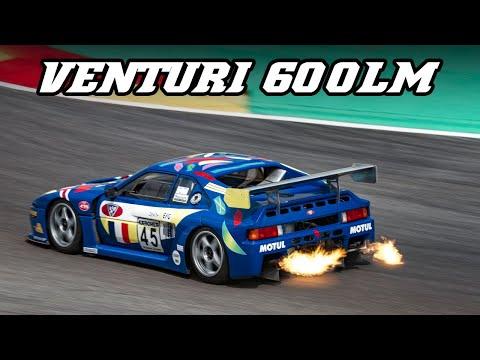 Venturi 600LM GT1 - V6 Twin Turbo sounds & flames