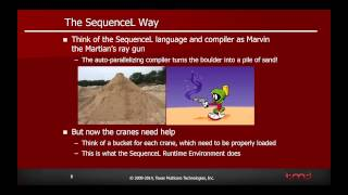 SequenceL Tutorial Part 1, SequenceL overview and how it enhances existing programming methodologies