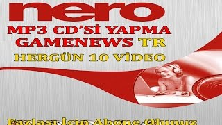 NERO MP3  CD Sİ YAPMA  2016