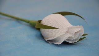 Бутон розы для букета из конфет  Мастер-класс. Букет из конфет