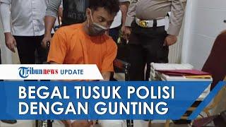 Residivis Begal Tusuk Polisi dengan Gunting saat Ditangkap setelah Pelaku Beraksi Todong Driver Ojek