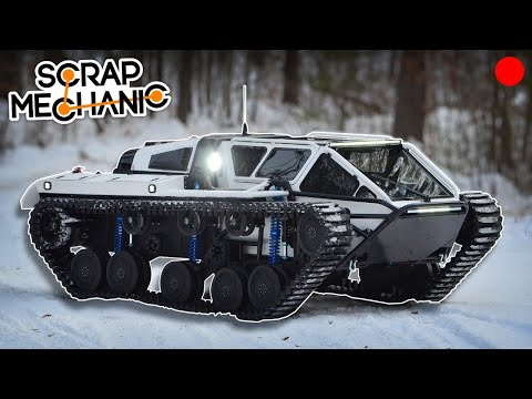 Building the Ripsaw Floating Tank! - Scrap Mechanic Live Stream