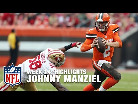 32c57f6ed Johnny Manziel Highlights Week 14 49ers vs Browns NFL play
