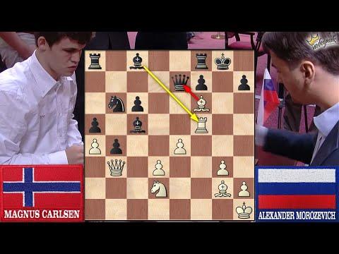 """ŽRTVOM DAME"" ruši No1 | 🇳🇴 Carlsen - Morozevich 🇷🇺 | English Opening |"