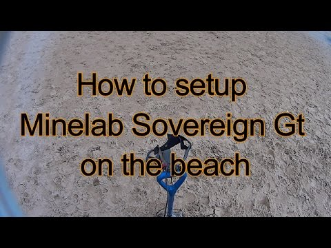 Minelab Sovereign Gt beach setup and settings tutorial for beach detecting