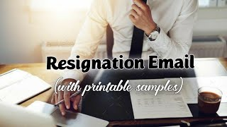 Professional email to use when you Resign or Quit your Job || Ultimate Email Guide ~ Corporate Tales