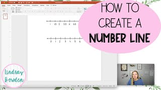 How to Make a Number Line