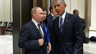 Путин обронил ШОКИРУЮЩУЮ фразу в закулисье с Обамой. Журналист успел записать 12 секунд