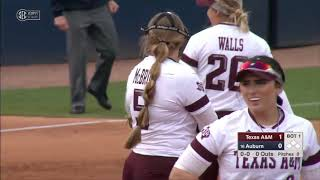 NCAA Softball 2019 : Texas A&M vs  #16 Auburn Mar 16