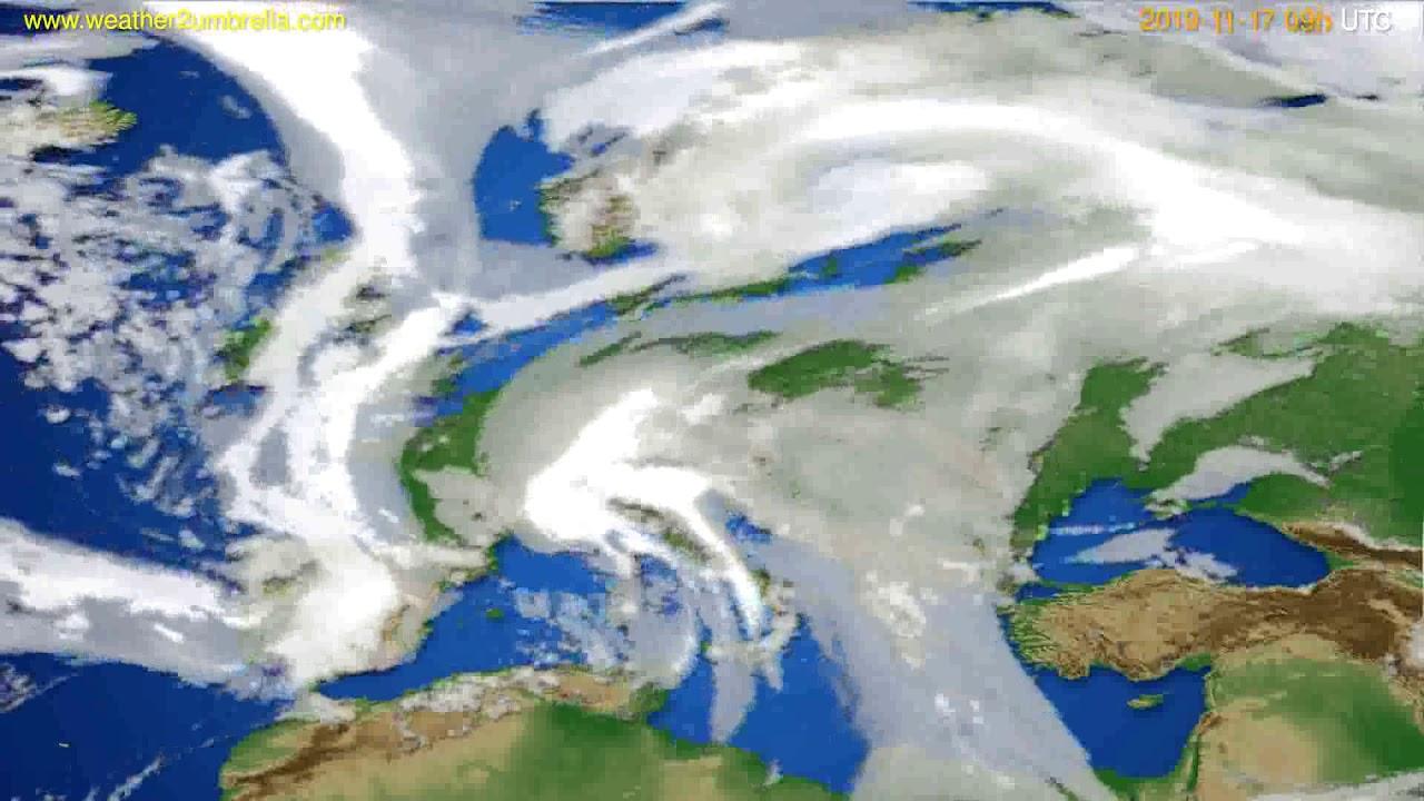 Cloud forecast Europe // modelrun: 12h UTC 2019-11-15