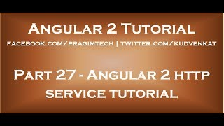 Angular 2 http service tutorial