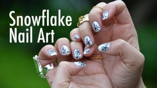 Snowflake Nail Art Quickie with Mr. Kate