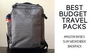 Best Budget Travel Packs: Amazon Basics Slim Weekender Travel Backpack Review
