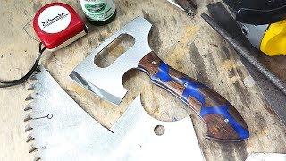 Making a Hatchet from saw blade / 원형톱날로 손도끼 만들기