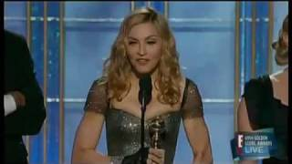 Madonna Winning The Golden Globe 2012 For The Best Original Song Masterpiece From WE
