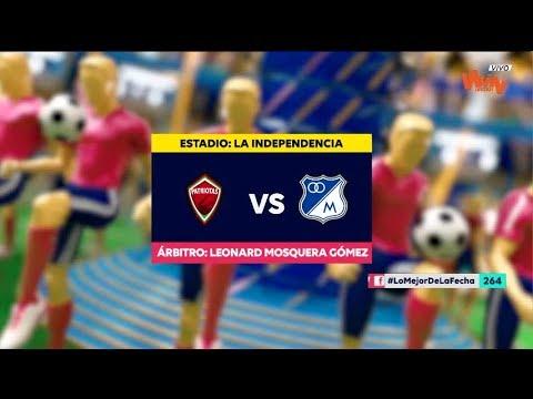 Patriotas vs Millonarios - Resumen y mejores jugadas   Liga Aguila 2019-1   Fecha 15