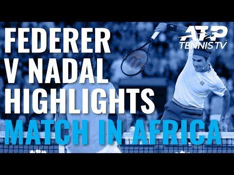 Рогер Федерер в Рафа Надал Ексхибитён Хигхлигхц | Mатч Ин Африка 2020
