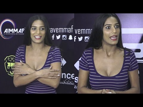 Poonam Pandey Attends A Mixed Martial Art Match In Mumbai