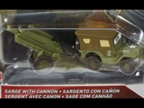 Sarge With Cannon! New 2018 Diecast!