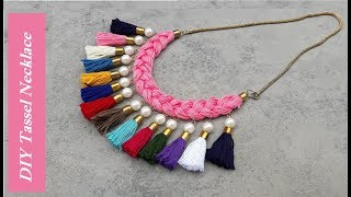 How To Make Tassel Necklace At Home | Handmade Jewellery Ideas | Creation&you